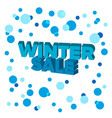 bright blue 3d words winter sale vector image vector image