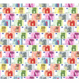 bright different euro banknotes in a rows vector image vector image