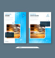 brochure design a4 cover template for brochure vector image vector image