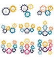 Charts diagrams with 2 - 10 gears vector image