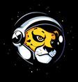 cheetah astronaut mascot vector image