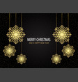 christmas background with sparkling snowflakes vector image vector image
