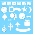 christmas element paper decoration set vector image vector image