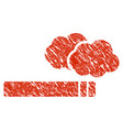 cigarette smoke icon grunge watermark vector image