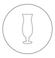 coctail glass icon black color in circle vector image vector image