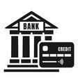 credit bank icon simple style vector image vector image