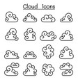curl cloud icon set in thin line style vector image vector image