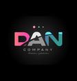 dan d a n three letter logo icon design vector image vector image
