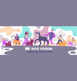 dog forum header vector image vector image