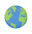 earth globe icon world planet map vector image