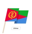 Eritrea Ribbon Waving Flag Isolated on White vector image vector image