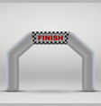 finish arch vector image vector image
