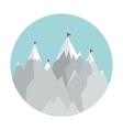 Flat Style Icon with Mountains vector image