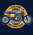 flat tracker motorcycle badge vector image vector image
