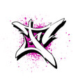graffiti alphabet letter f against a background vector image vector image