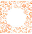 handdrawn doodle fruits and vegetables set vector image vector image