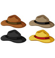 hats in four different colors vector image vector image