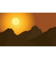 Hight mountain silhouette vector image vector image