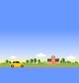 home - flat design landscape vector image vector image