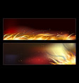 hot fire banners set with orange flames for your vector image vector image