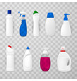 house cleaning products realistic vector image