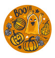ink hand drawn halloween background vector image vector image