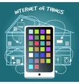 Internet of Things Concept with smart phone vector image vector image