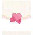 invitation with heart card vector image