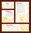 italian pasta banner template set for food design vector image