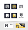 Letter M logo icon set vector image vector image