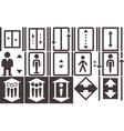 lift icons set vector image