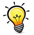 light bulb cartoon isolated vector image