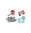 logotype m modern template set vector image vector image