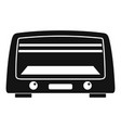 microwave oven icon simple style vector image vector image