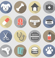 Modern Flat Design Dog Icons Set vector image vector image