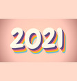 new year postcard 2021 in retro style vector image vector image