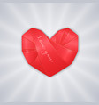 origami red heart vector image vector image