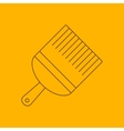 Paint brush line icon vector image vector image