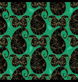 paisleys seamless pattern green floral vector image