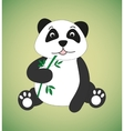 Panda with sprig of bamboo vector image