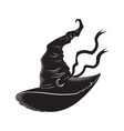 pointy witch hat with crescent moon hand drawn vector image vector image