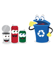 recycling tin vector image vector image