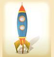 retro spaceship landing vector image vector image