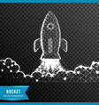 rocket cloud business startup from connecting dot vector image vector image