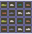 Seamless background with army vehicle vector image vector image