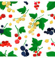 seamless pattern with cartoon currant vector image vector image