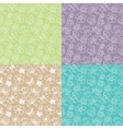 seamless patterns with ribbon vector image vector image
