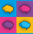 set speech bubble vector image