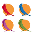 simple flat design of birds vector image