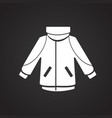 ski jacket on black background vector image